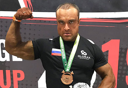 A member of the Glorax Life team took the bronze medal at the Moscow Bodybuilding Cup