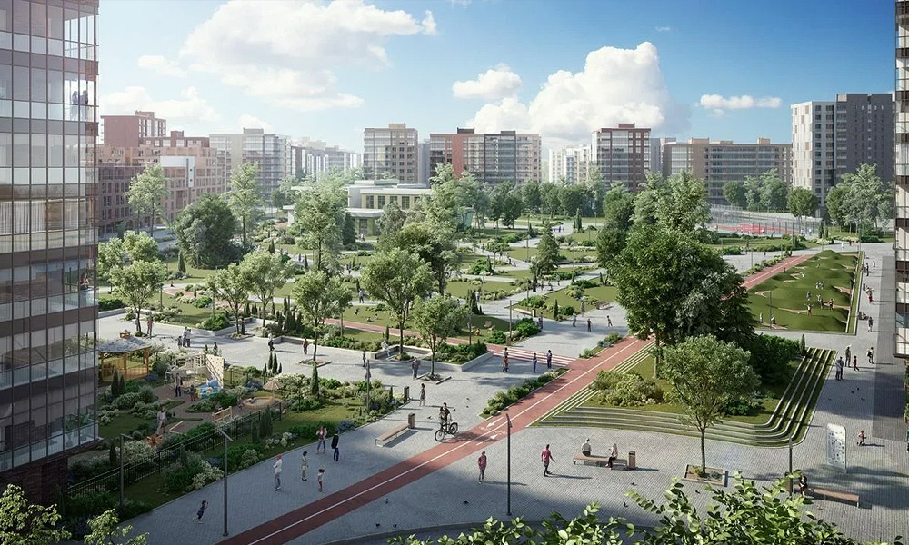 Large-scale project of Ligovsky City in the historical part of St. Petersburg
